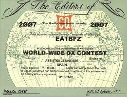 diploma oficial ww dx contest